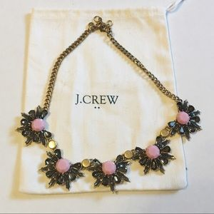 J Crew Factory pink floral statement necklace